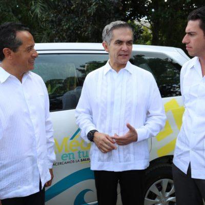 Con Mancera como 'padrino', echa a andar Carlos Joaquín el programa 'Médico en Tu Casa'