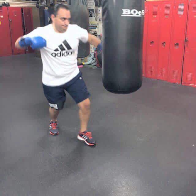 ROUNDS EN LA SOMBRA: Sin ninguna querella que lo inquiete, circula foto de Borge entrenando como boxeador