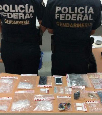 Detienen a jefe de 'Los Pelones' con más de 300 dosis de droga en Cancún