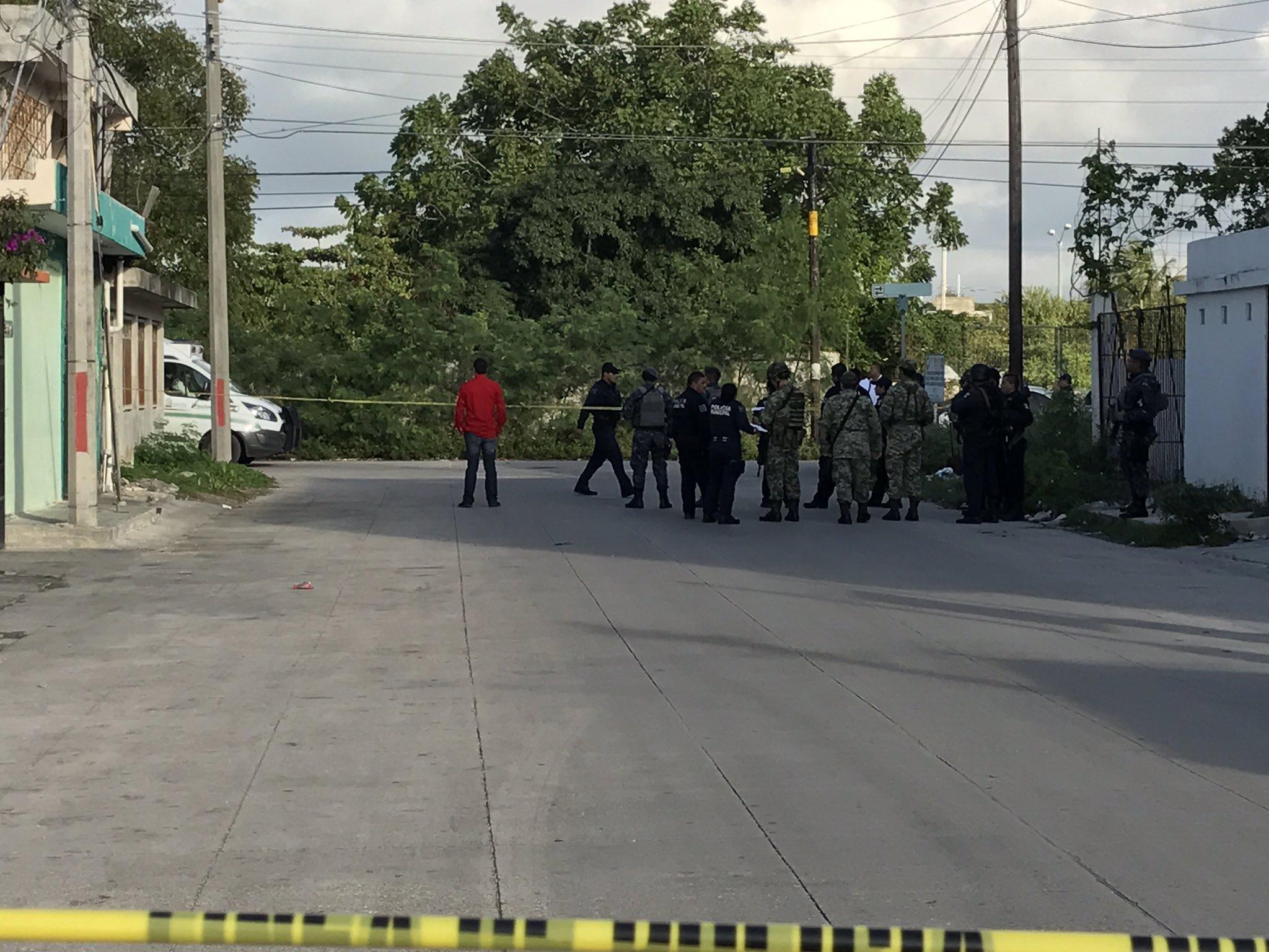 Militares también llegaron al lugar del crimen. Foto: @Foreign_Mayorga