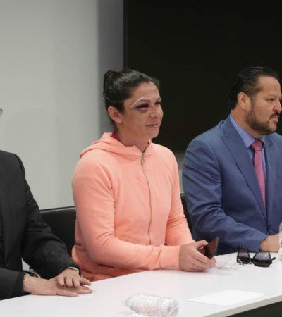 """""""EN EL PISO ME GOLPEARON, ERAN CUATRO, NO PODÍA DEFENDERME"""": Relata Ana Gabriela Guevara agresión y exige un alto a la violencia contra las mujeres"""