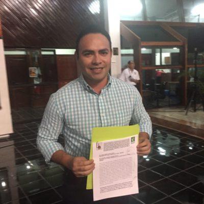 Por supuesta invasión de predio, denuncia diputado 'verde' a Alberto Farfán, secretario del Ayuntamiento de Solidaridad