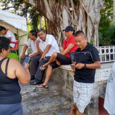 EL OTRO DÍA DEL POLICÍA: Protestan elementos de Seguridad Pública en Cancún por supuestos descuentos no aclarados