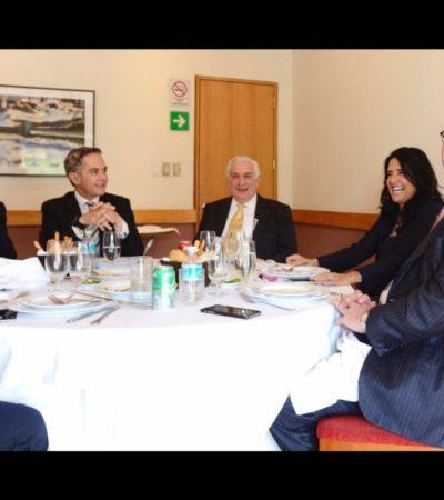 Va Carlos Joaquín a reunión de Gobernadores del PRD con Mancera y Barrales a la CDMX