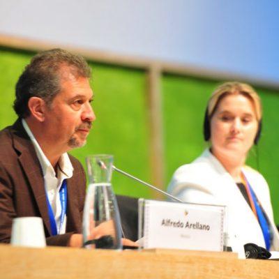 Clausura Alfredo Arellano en Cancún Quinta Cumbre Global de Biodiversidad de Ciudades y Gobiernos Subnacionales