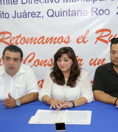 Denuncian agresión de policías de Cancún contra diputada panista y ex regidor por defender a jóvenes acosados