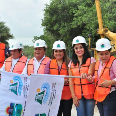 Inicia pavimentación de tramo de la carretera costera Tulum-Punta Allen