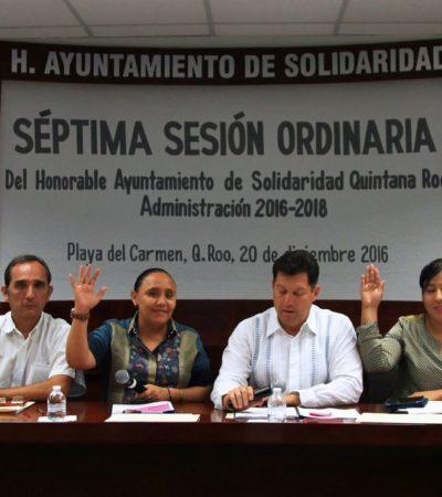 Aprueba Cabildo Presupuesto de Egresos de Solidaridad por 1,856 mdp para el 2017