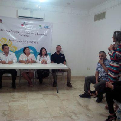 Ofrece Secretaría de Seguridad disculpas públicas a Héctor Casique y a otros internos víctimas de agravios durante el borgismo