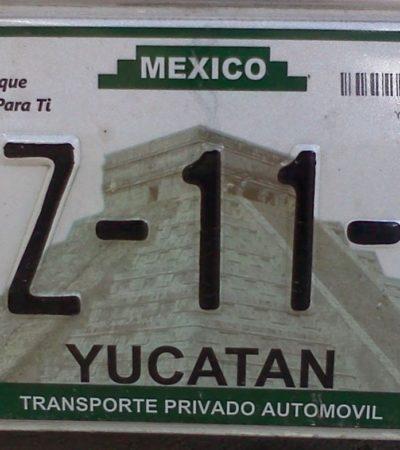 También Yucatán tendrá reemplacamiento en 2017; esperan recaudar 120 mdp