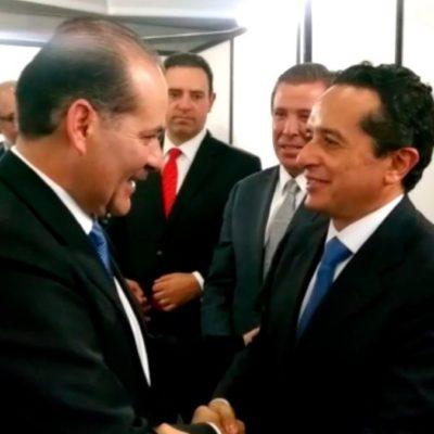 Va Carlos Joaquín a toma de protesta de los nuevos gobernadores de Veracruz y Aguascalientes
