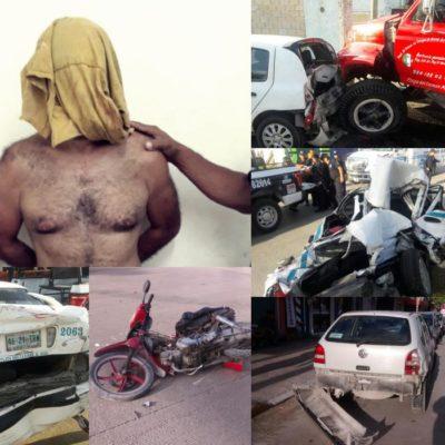 LOCA PERSECUCIÓN DE UN COLOMBIANO EN PLAYA: Drogado, roba pipa y destruye una decena de vehículos a su paso; policías detienen unidad a balazos