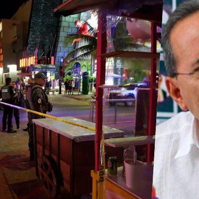 Tras violencia en zona turística, confía secretario de Gobierno en que no habrá 'alerta' de viaje de EU contra Cancún