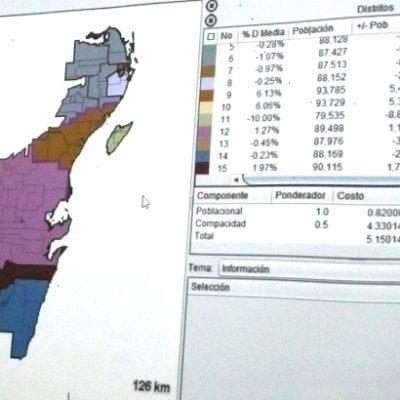 QUEDA FIRME LA REDISTRITACIÓN: Contará QR con 4 distritos electorales, dos de ellos en Cancún