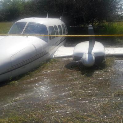Inician investigación por avioneta que se desplomó en poblado de Campeche