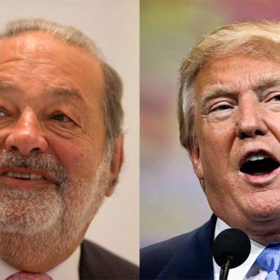 RICOS Y PODEROSOS HACEN LAS PACES: Carlos Slim y Donald Trump cenan en privado para limar asperezas
