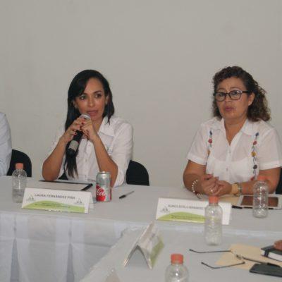 Se reúne Laura Fernández con secretaria de Educación para aterrizar programas para mejorar escuelas en Puerto Morelos