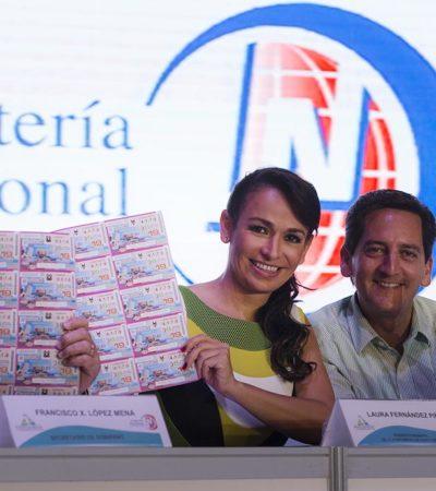 NOCHE DE LA SUERTE DESDE PUERTO MORELOS: Realizan sorteo de la Lotería Nacional para celebrar el primer aniversario del undécimo municipio de QR