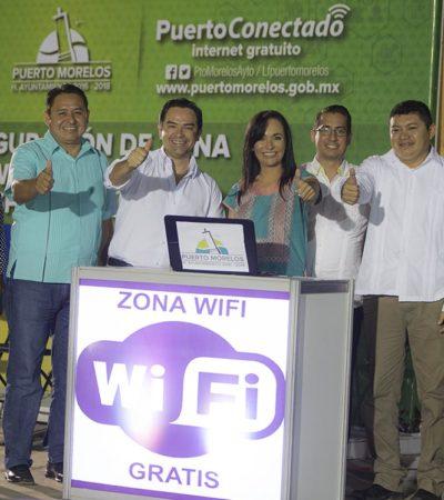 Conectan parques públicos al internet en Puerto Morelos y Leona Vicario