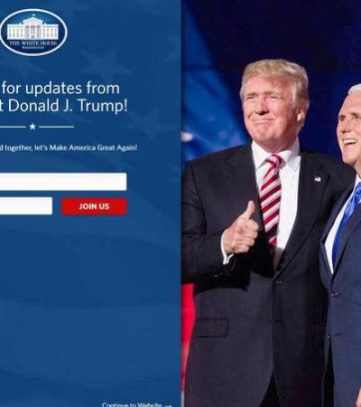 Borran el español de la web de la Casa Blanca