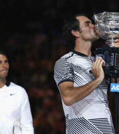 PARTIDO HISTÓRICO EN MELBOURNE: Federer derrota a Nadal y se corona en el Abierto de Australia para sumar 18 títulos de Grand Slam