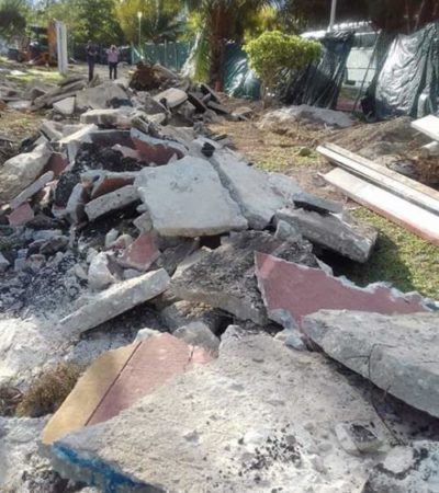 POLÉMICA POR DESTRUCCIÓN DE CICLOPISTA EN ZONA HOTELERA: Exigen respeto a patrimonio de los cancunenses