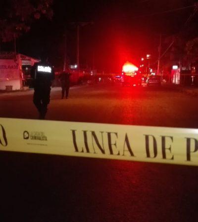 BALACERA EN LA AVENIDA TALLERES DE CANCÚN: Reporte preliminar de un muerto y una mujer herida en la Región 209