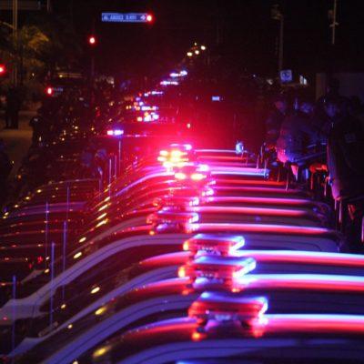 """Realizan policías federales operativo 'Lluvia de Estrellas' en Cancún para """"meterle miedo"""" a la delincuencia"""