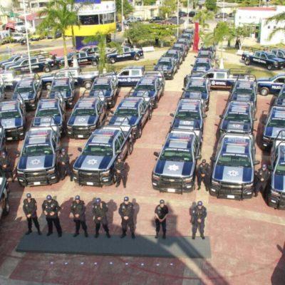 TOCA AL SUR REFORZAR SEGURIDAD: Entrega Gobernador 140 patrullas y equipo a la policía de OPB