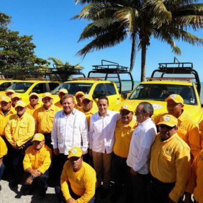 Entrega Gobernador vehículos para la protección forestal y apoyos a productores ejidales por más de 8 mdp