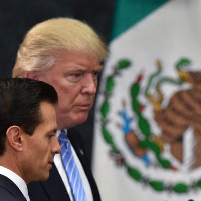 ACUERDAN PEÑA Y TRUMP NO HABLAR EN PÚBLICO SOBRE EL MURO: Ambos Presidentes hablaron por teléfono sobre conflictos en puerta, revelan
