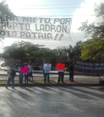 PROTESTAN EN 'EL CEVICHE' CONTRA EL GASOLINAZO: Transportistas y motociclistas, contra el alza a los combustibles