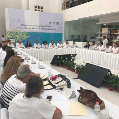 Instalan la Primera Comisión Estatal para la Planeación de la Educación Básica en QR