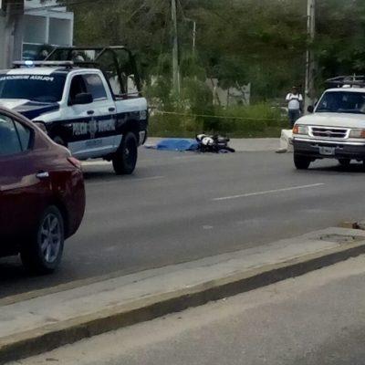 Fallece motociclista arrollado por auto en el bulevar Colosio de Cancún
