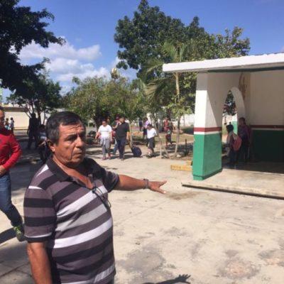 Denuncian fraude de constructora en primaria de Chetumal