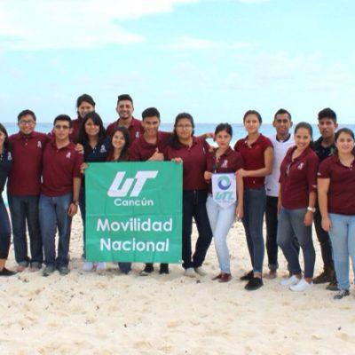 Llegan universitarios de otros estados a Cancún