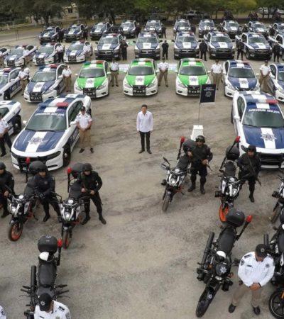 REFUERZAN SEGURIDAD PÚBLICA EN CANCÚN: Entrega Alcalde 101 nuevas unidades para patrullar el principal destino de México