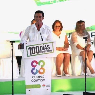 Celebra Remberto Estrada informe de sus primeros 100 días y dice que está cumpliendo a los benitojuarenses