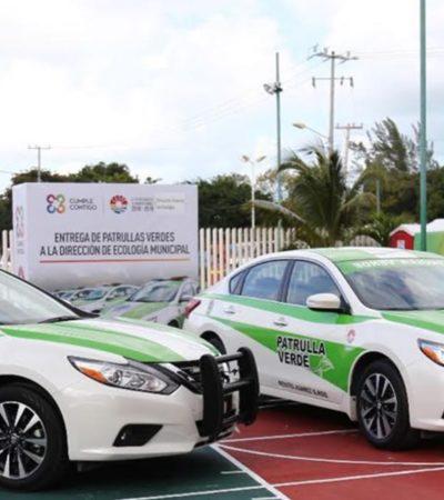 Entrega Alcalde 'patrullas verdes' a Ecología de Cancún