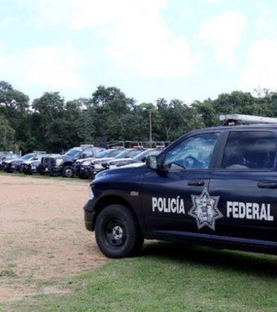 """LLEGAN A CANCÚN MÁS POLICÍAS: Recibe Alcalde a contingente de federales anviados para """"recuperar la paz y confianza"""""""