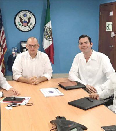 DISCUTEN SOBRE SEGURIDAD A TURISTAS: Se reúne Alcalde de Cancún con cónsul de EU en Mérida