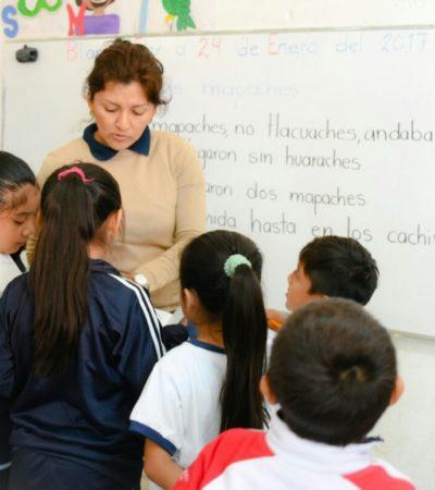 Anuncian autorización del Gobernador para pagar a partir de hoy compensación de fin de mes a maestros de todo QR