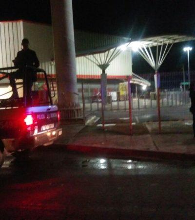 SAQUEOS Y ACTOS VANDÁLICOS TAMBIÉN EN CANCÚN: Con el pretexto del gasolinazo, arremeten contra un Chedraui y un Soriana en la madrugada