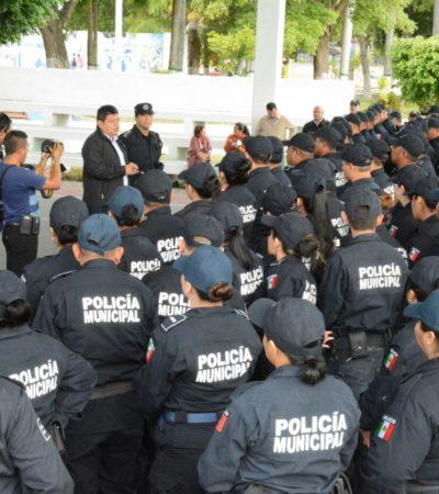 Destaca Alcalde labor de policías para frenar saqueos y disturbios en Chetumal