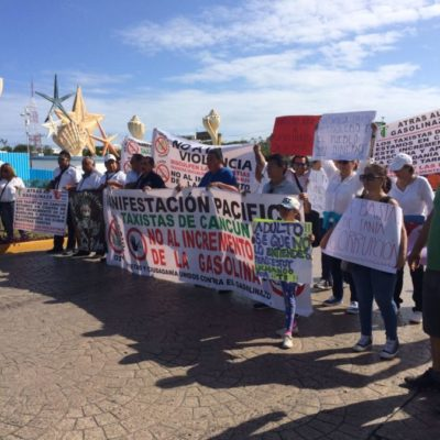 SEGUNDO DÍA DE PROTESTAS EN 'EL CEVICHE': Cancunenses se manifiestan contra el gasolinazo