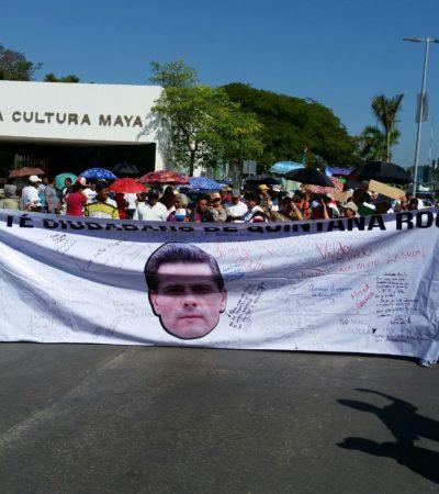 PROTESTA DOMINICAL EN CHETUMAL: Marchan cientos contra el gasolinazo; piden renuncia de EPN y justicia contra Borge