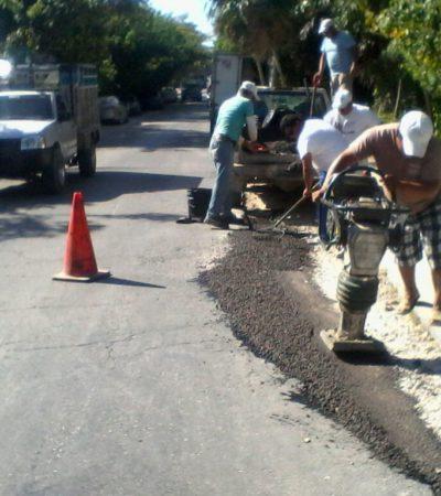 Bachean avenida costera de Tulum