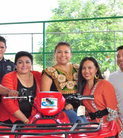 Entregan vehículos, equipo y uniformes a trabajadores de la Zofemat y Protección Civil en Tulum
