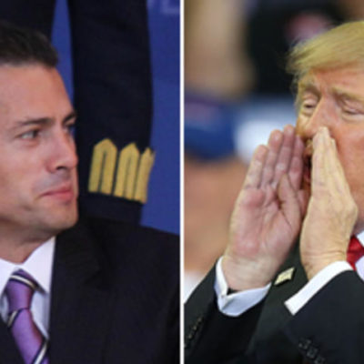 """TRAS AMENAZA DE TRUMP, CANCELA PEÑA VIAJE A EU: """"Si México no está dispuesto a pagar por la pared necesaria, sería mejor cancelar la próxima reunión"""", advirtió el estadounidense"""