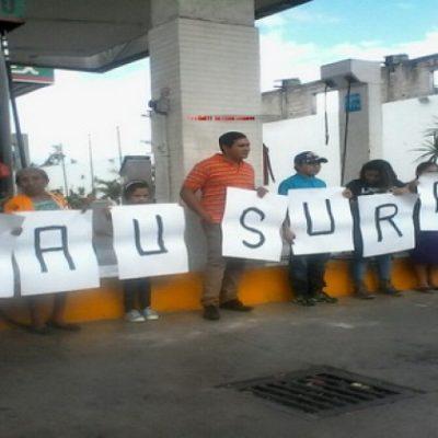 Clausuran gasolinera en Valladolid por aumento de combustibles